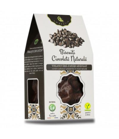 Biscuiti ciocolata naturala, fara zahar adaugat