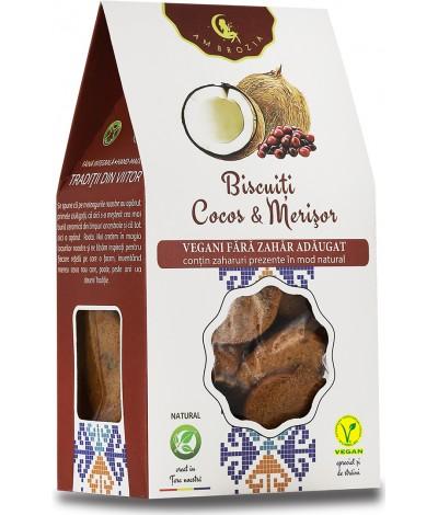 Biscuiti Cocos & Merisor, fara zahar adaugat
